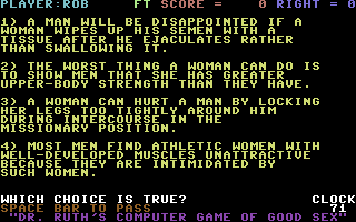 Dr. Ruth's Computer Game of Good Sex