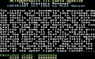 Metamorphosis III: Earth Warrior - The Creators Revenge