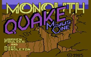 Quake Minus One
