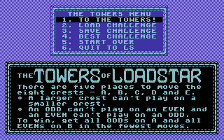 Towers of Loadstar, The: A Calhoon Challenge